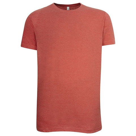 Mens Vintage Red Crew Neck T Shirt
