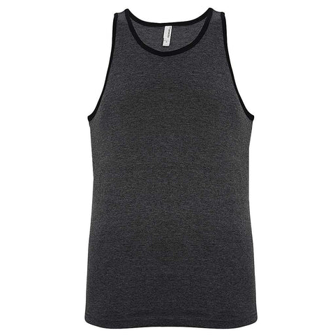 Mens Ringer Tank Workout: Gray Black