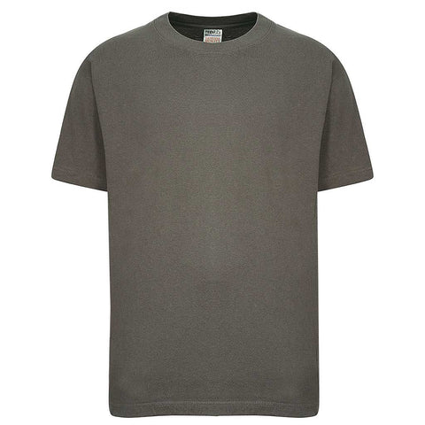 Mens Crew Neck Cotton T Shirt: Charcoal Gray