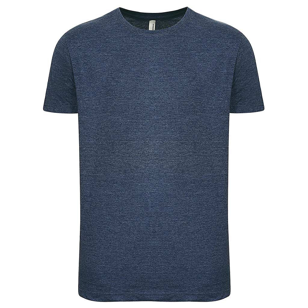 Mens T Shirt: Heather Navy Blue