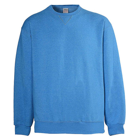 Mens Crew Neck Sweatshirt. Light Sky Blue