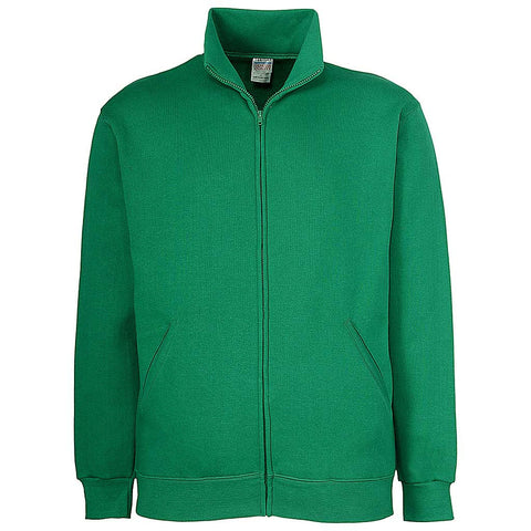 Mens Irish Kelly Green Zip Jacket