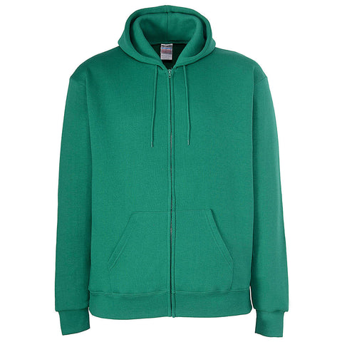 Mens Kelly Green Zip Hoodie. Irish Green