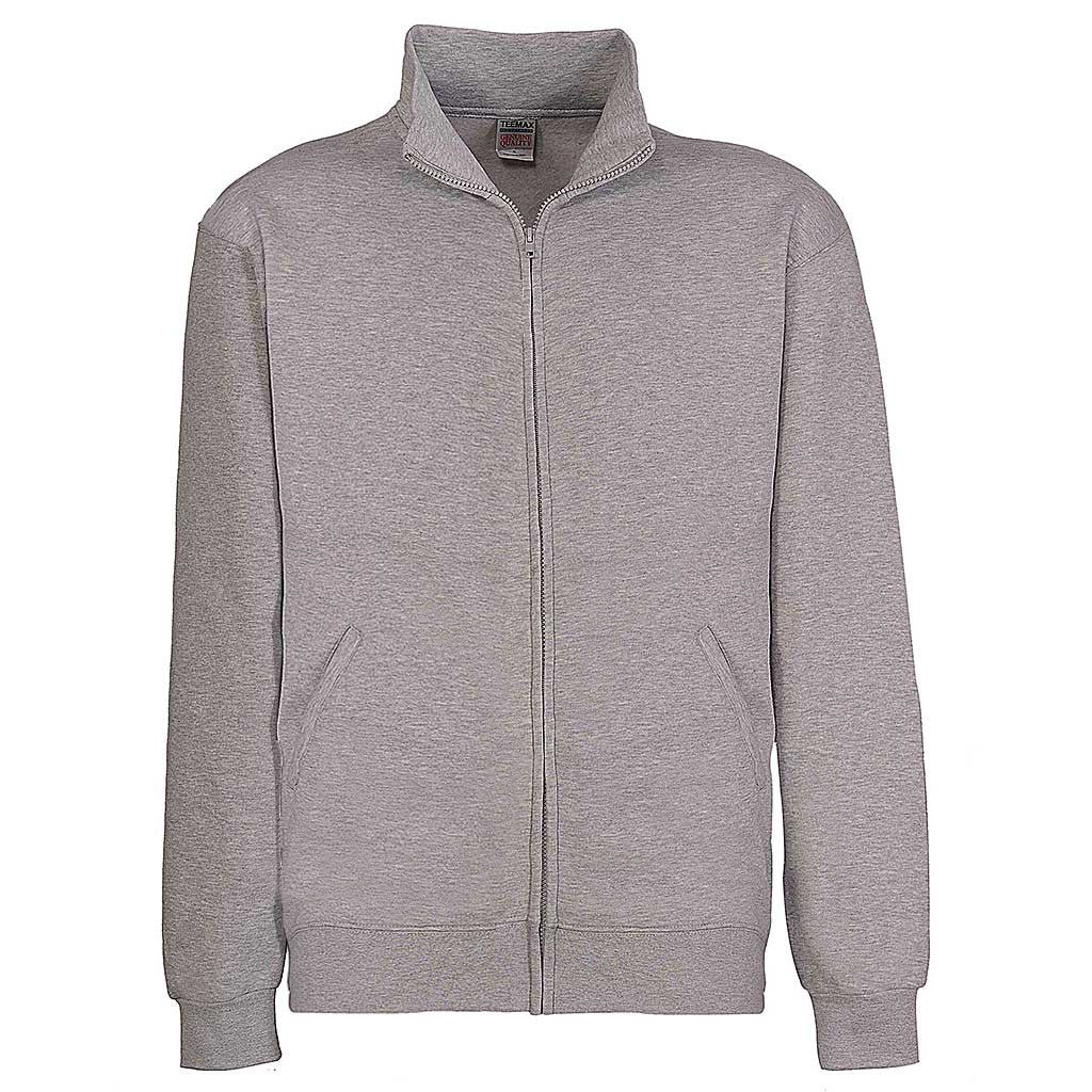 Mens Zipper Track Jacket: Ash Gray