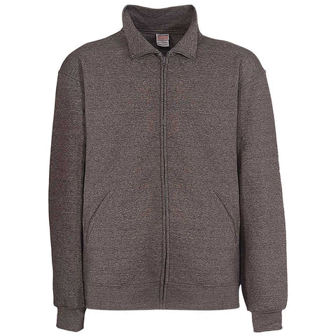 Mens Zip Track Jacket: Charcoal. Dark Gray
