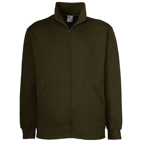 Mens Zip Jacket: Army Olive Green