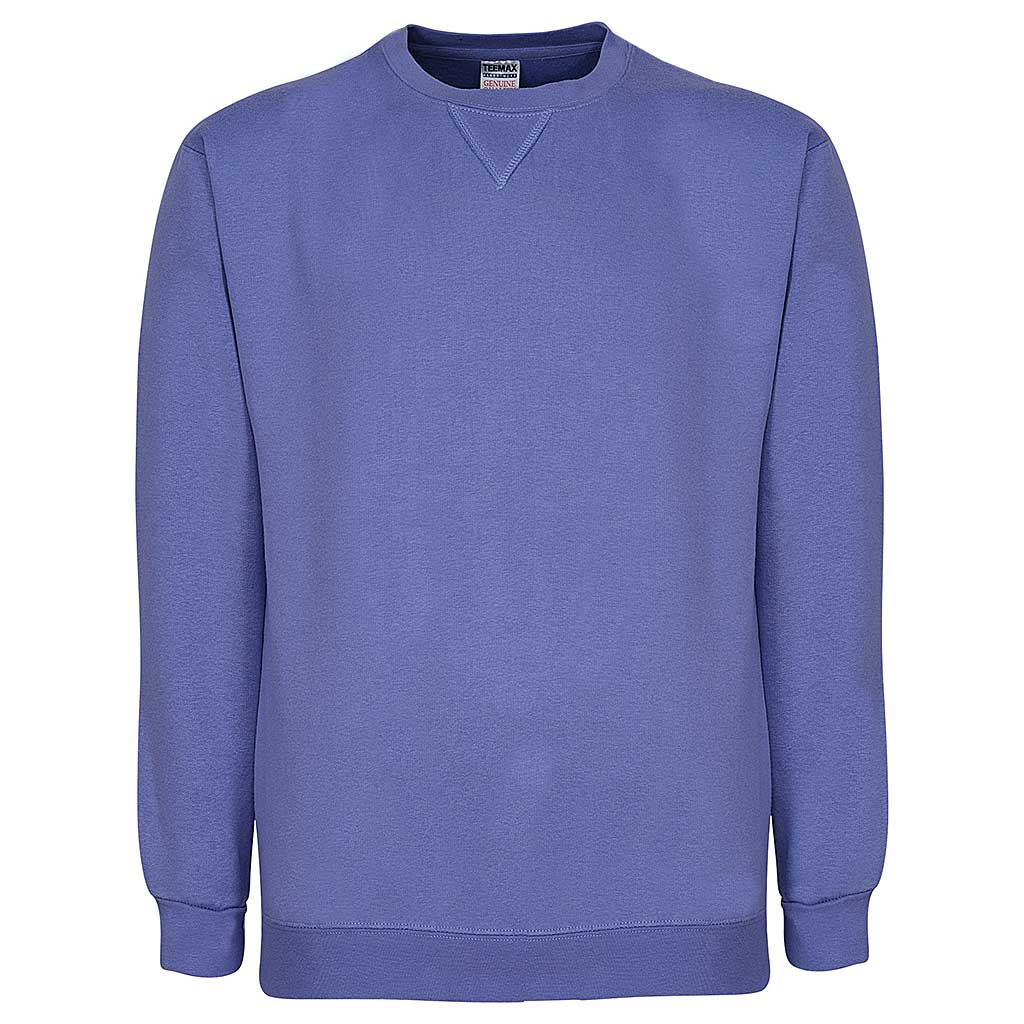 Mens Crew Neck Sweatshirt-Lavender. Light Purple