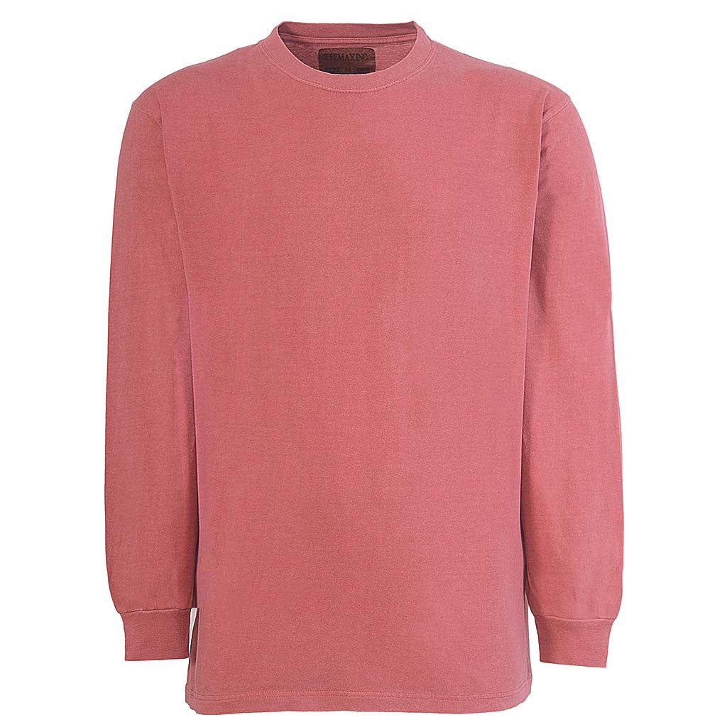 Mens Long Sleeve T Shirt Nantucket Red. Teemax.