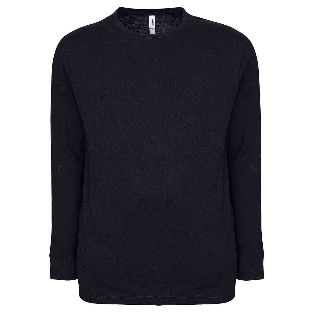 Mens Long Sleeve T Shirt Black