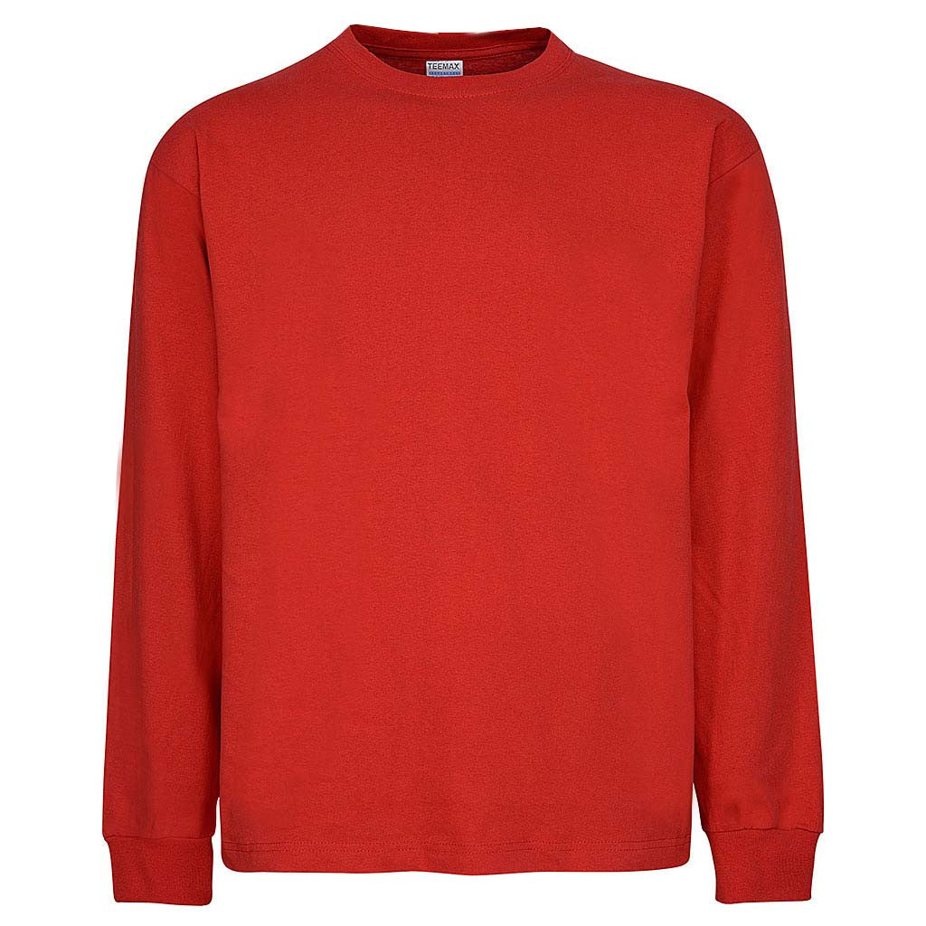 Mens Long Sleeve T-Shirt: Red