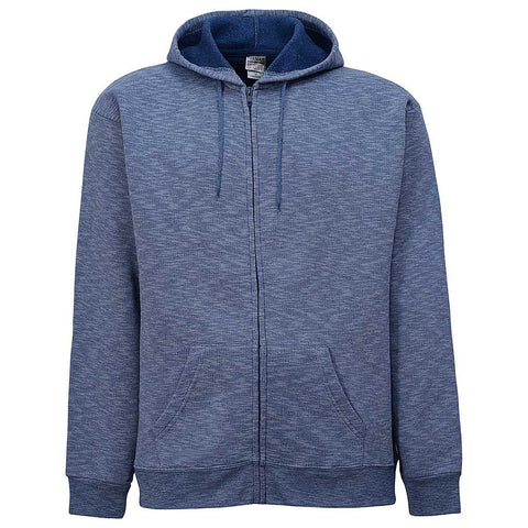 Mens Zip Hoodie. Striped Navy Blue.