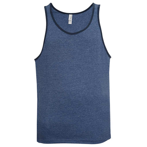 Mens Blue Ringer Workout Tank Top Bodybuilding: Teemax