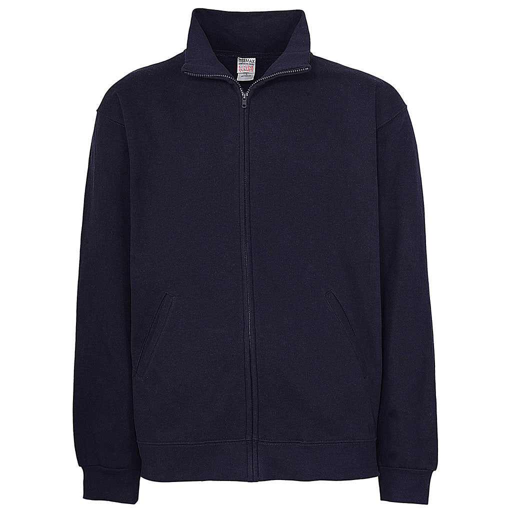 Mens Zip Jacket: Navy Blue