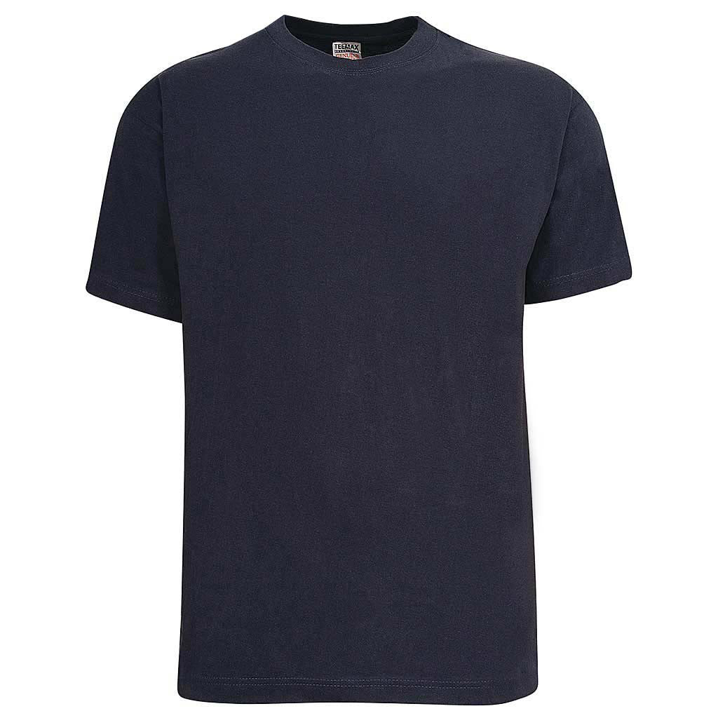 Mens Navy Blue Crew Neck T Shirt