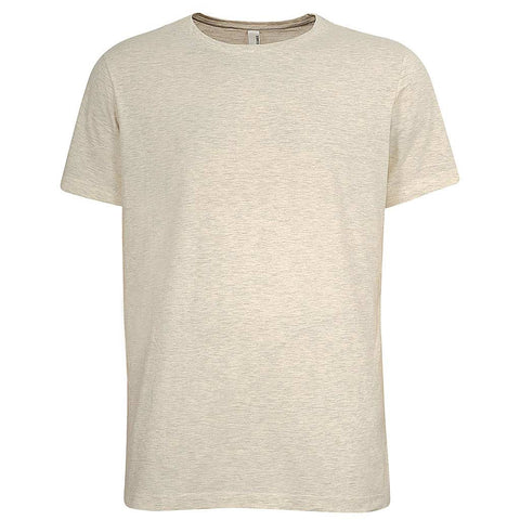 Mens T Shirt Beige Khaki Short Sleeve