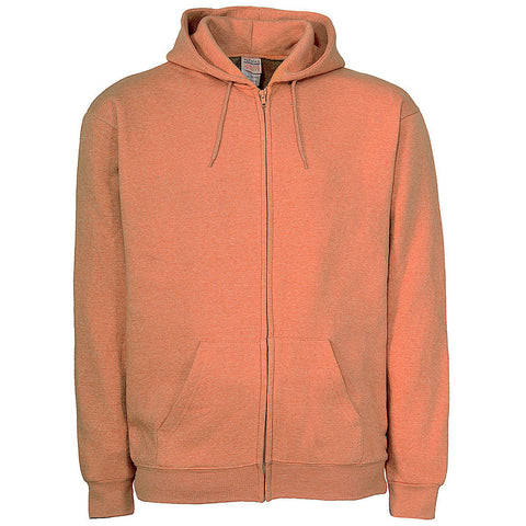 Unisex Orange Zip Sweatshirt Hoodie