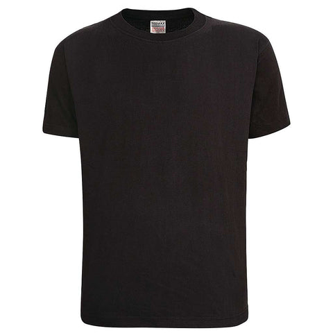 Mens Black T Shirt Crew Neck Teemax