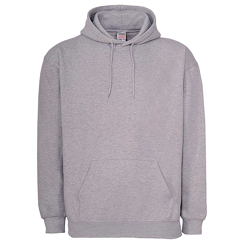 Mens Pullover Hoodie: Heather Gray Ash