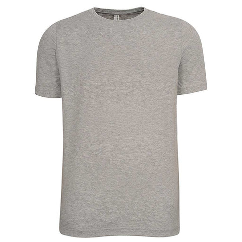 Mens Crew Neck T Shirt. Heather Gray