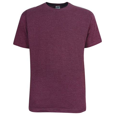 Mens Crew Neck T Shirt: Raspberry Plum