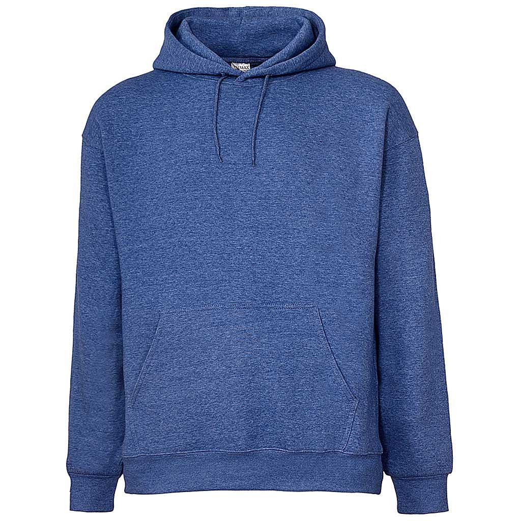 Mens Heather Royal Blue Pullover Hoodie Sweatshirt