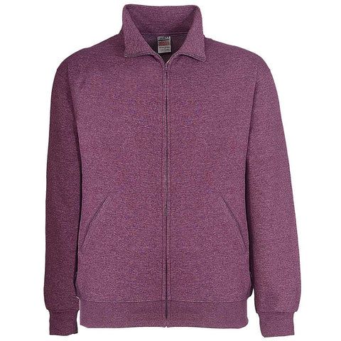 Mens Track Jacket: Purple Raspberry