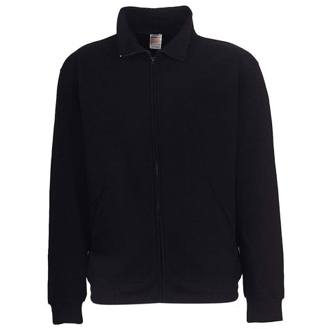 Mens Zip Track Jacket: Black