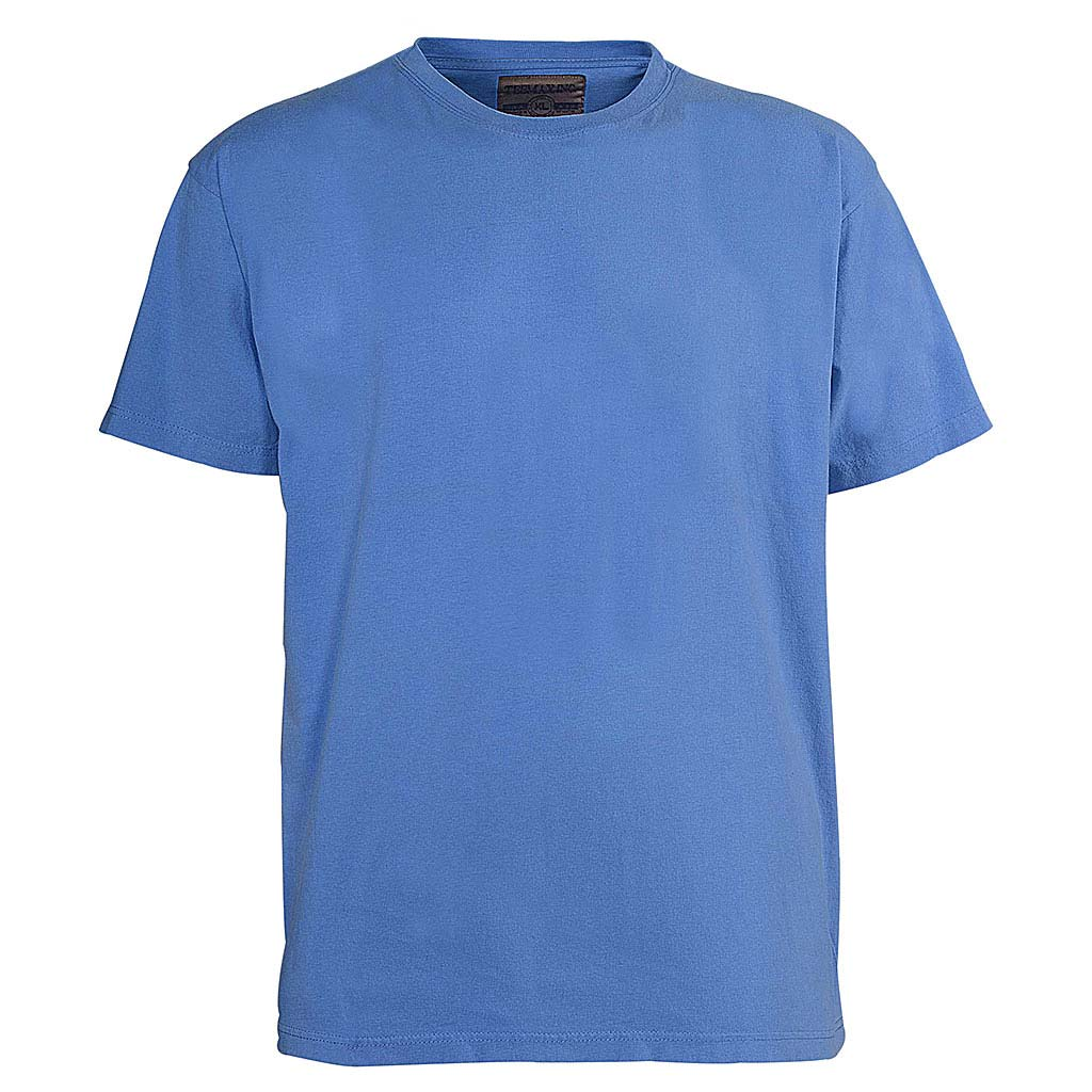 Mens Vintage Wash Violet Blue T Shirt