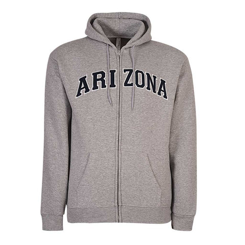Mens Arizona Zip Hoodie. Heather Gray. Ash