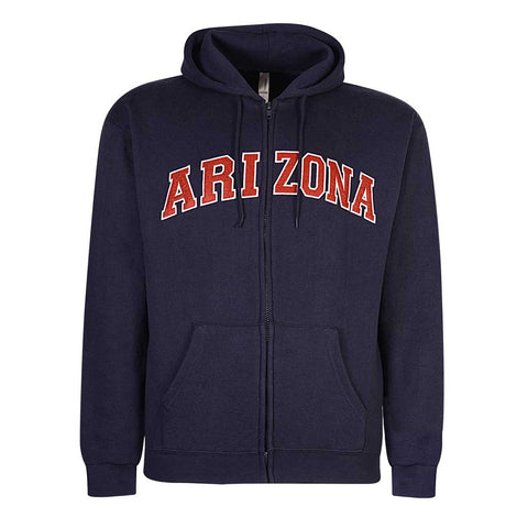 Mens Arizona Zip Hoodie Navy Blue. Crimson