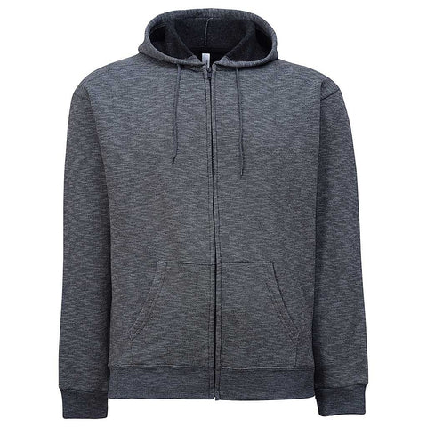 Mens Zip Hoodie. Charcoal Gray Stripe