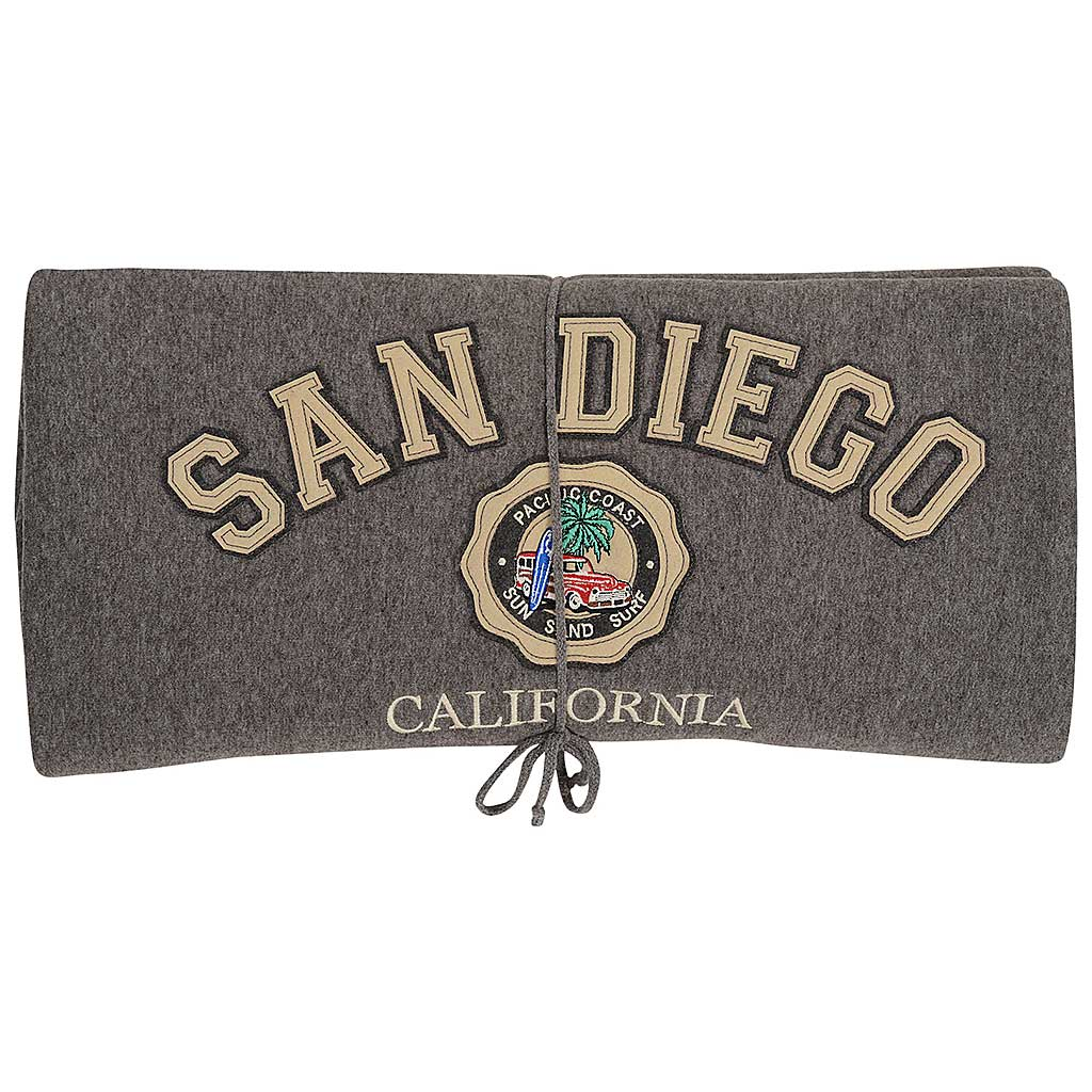 San Diego Blanket. Gray Patch Surf Board