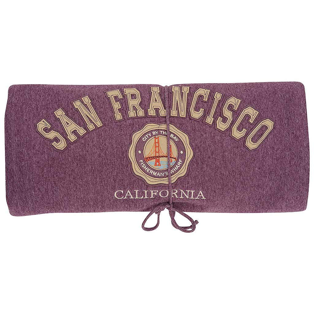 san francisco bridge blanket. purple fleece