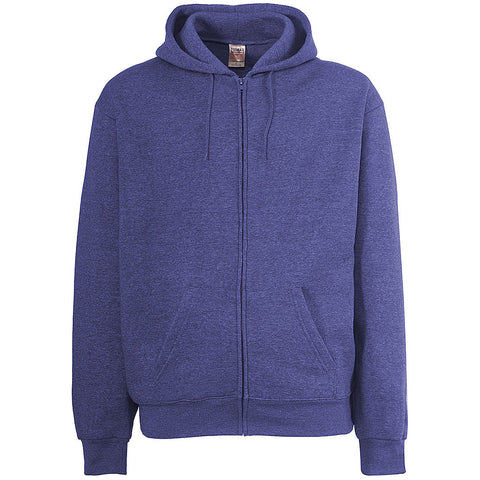 Mens Heather Royal. Violet. Zip Hoodie