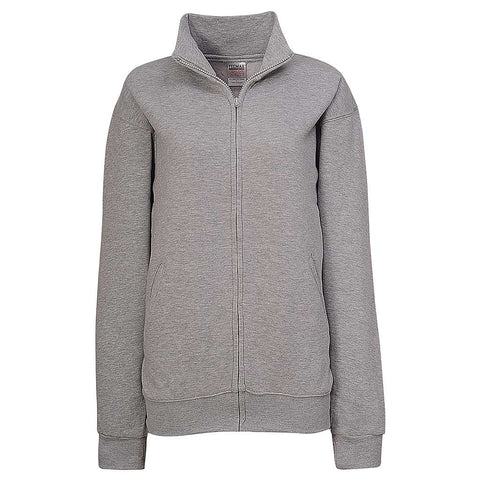 Womens Ash Heather Gray Full Zip Jacket - Teemax