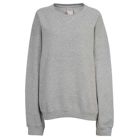 Womens Heather Gray Ash Crew Neck Sweatshirt