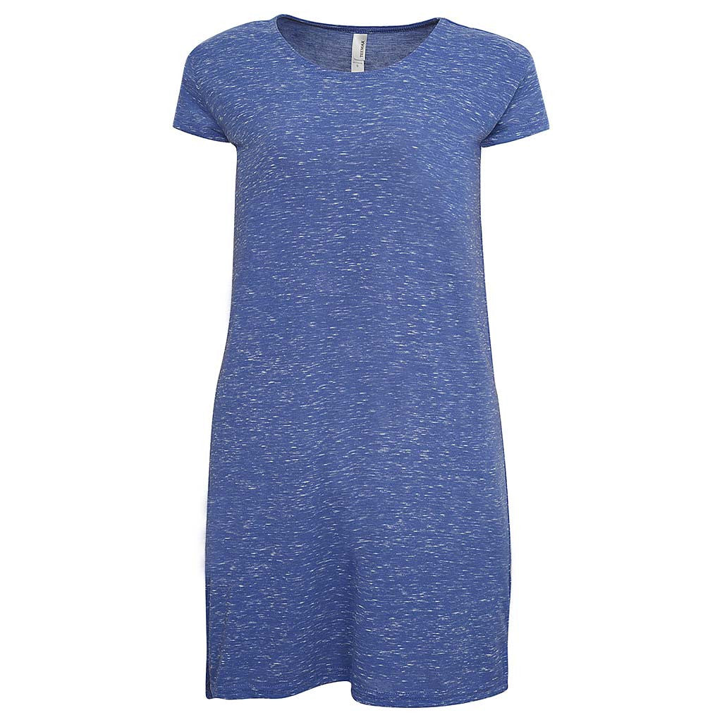 Summer Cotton Purple T Shirt Dress