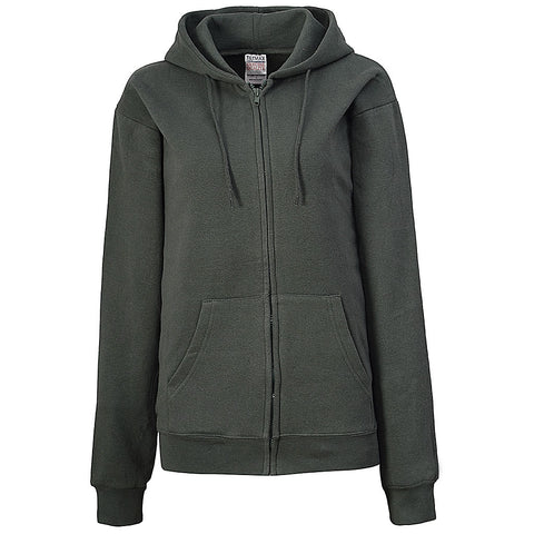 Womens Dark Gray Zip Up Hoodie