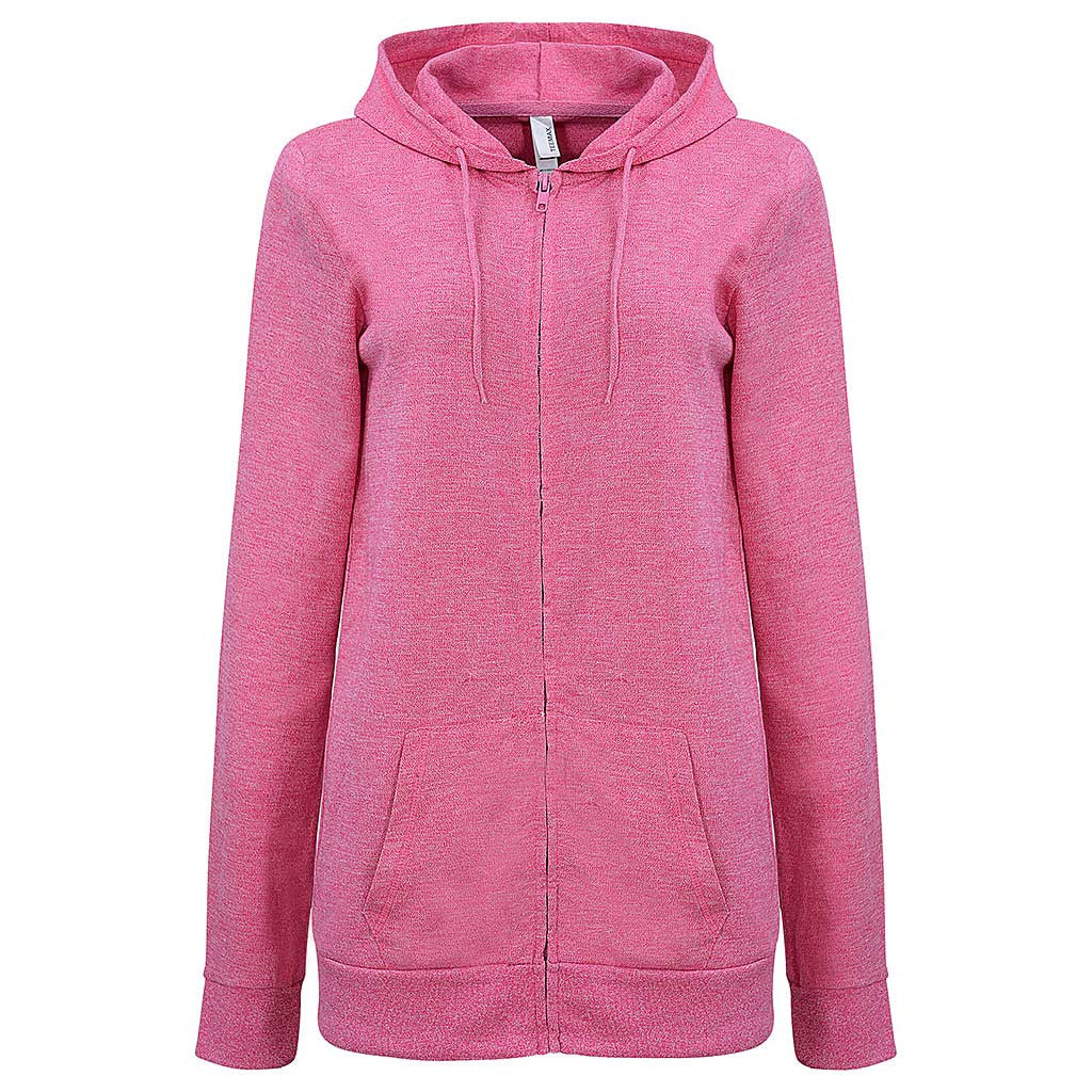 Womens Fuchisa Pink Zip Light Hoodie