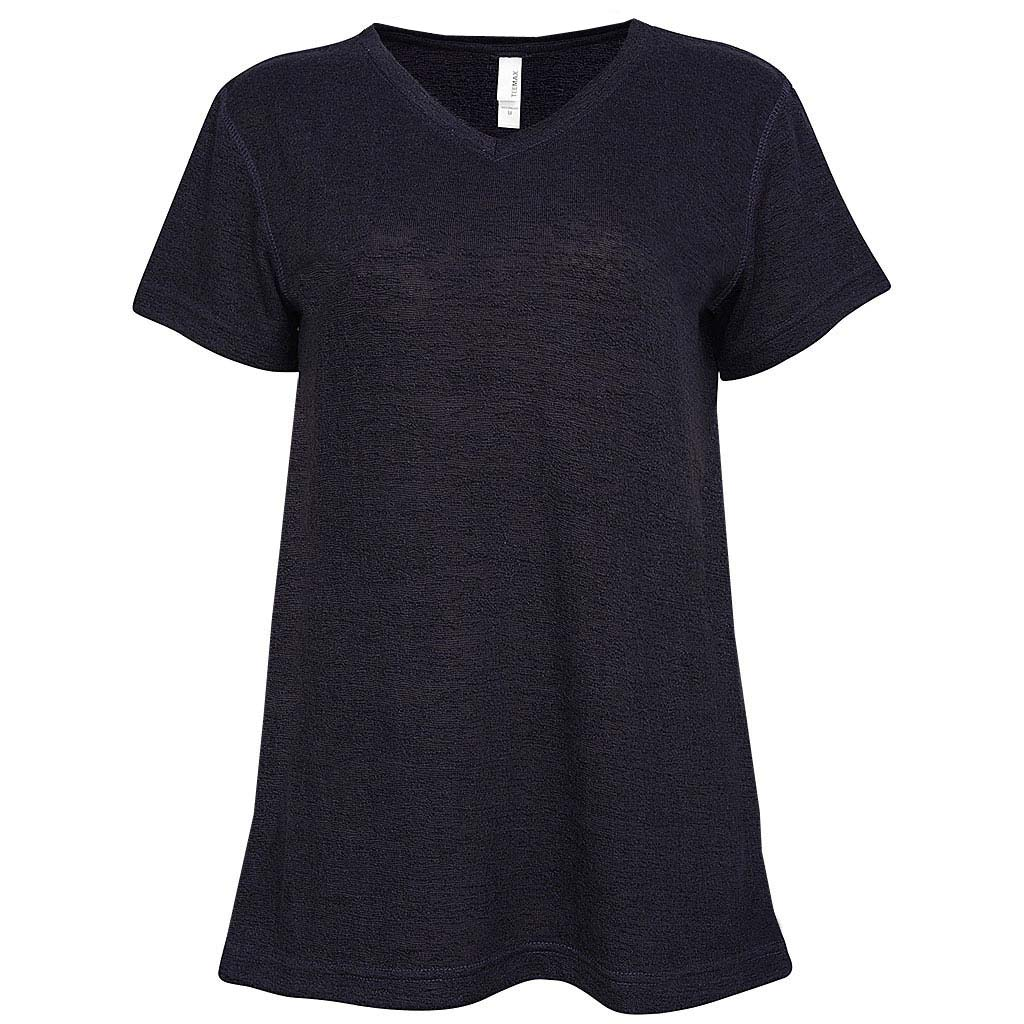 Womens V-Neck T-Shirt Eggplant Dark Purple