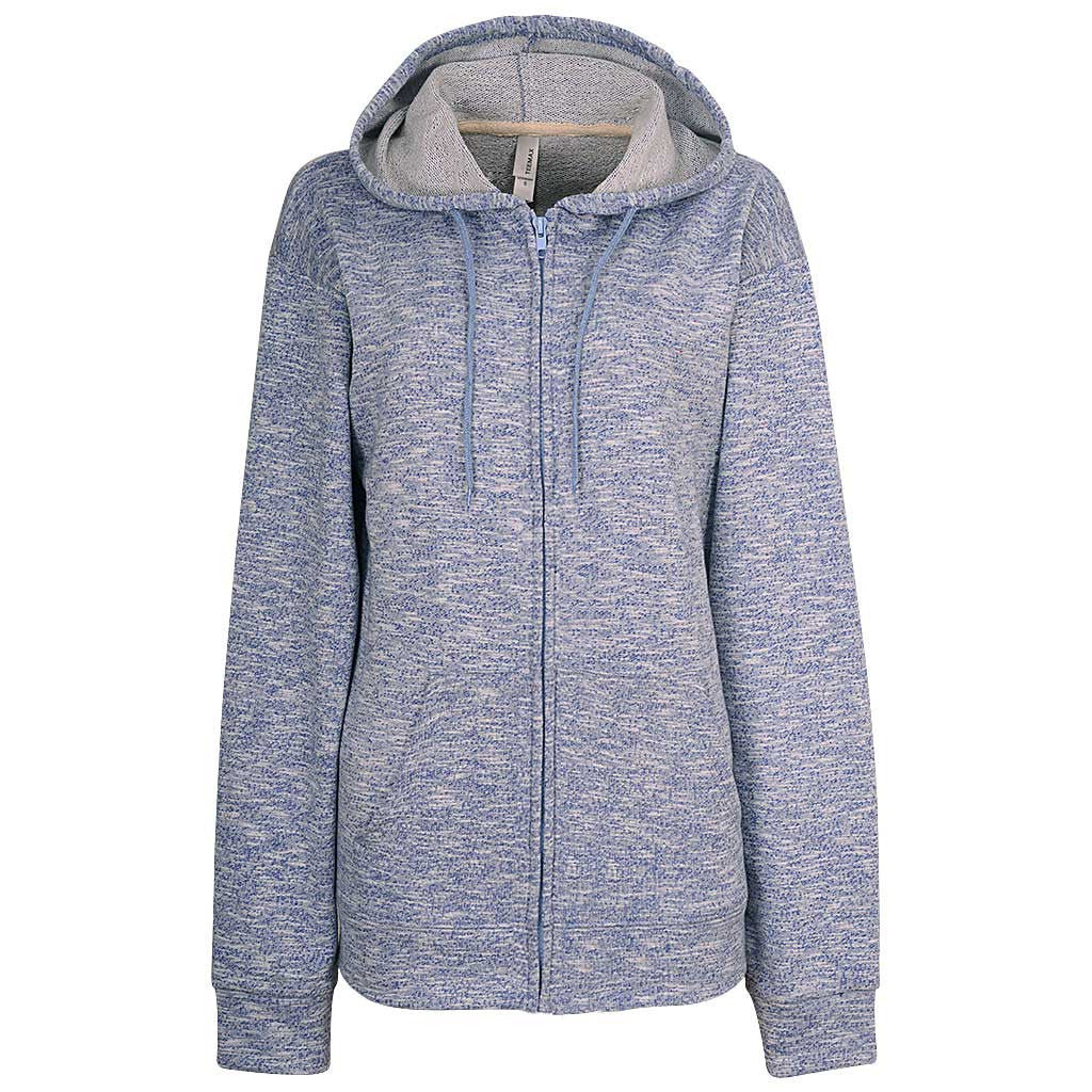 Womens Sky Blue Zip Up Hoodie
