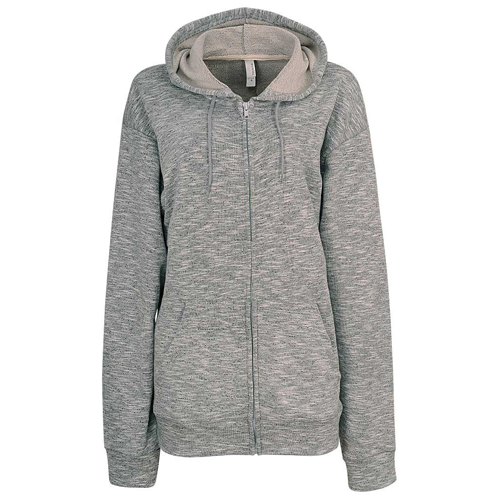Womens Gray Zip Up Hoodie