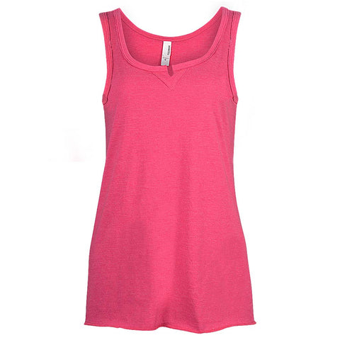Fuchsia Pink Tank V Notch