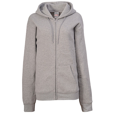 Womens Ash Gray Fleece Zip Hoodie