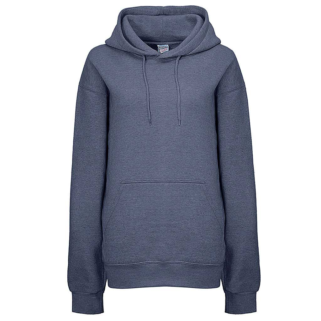 Womens Heather Blue Pullover Hoodie