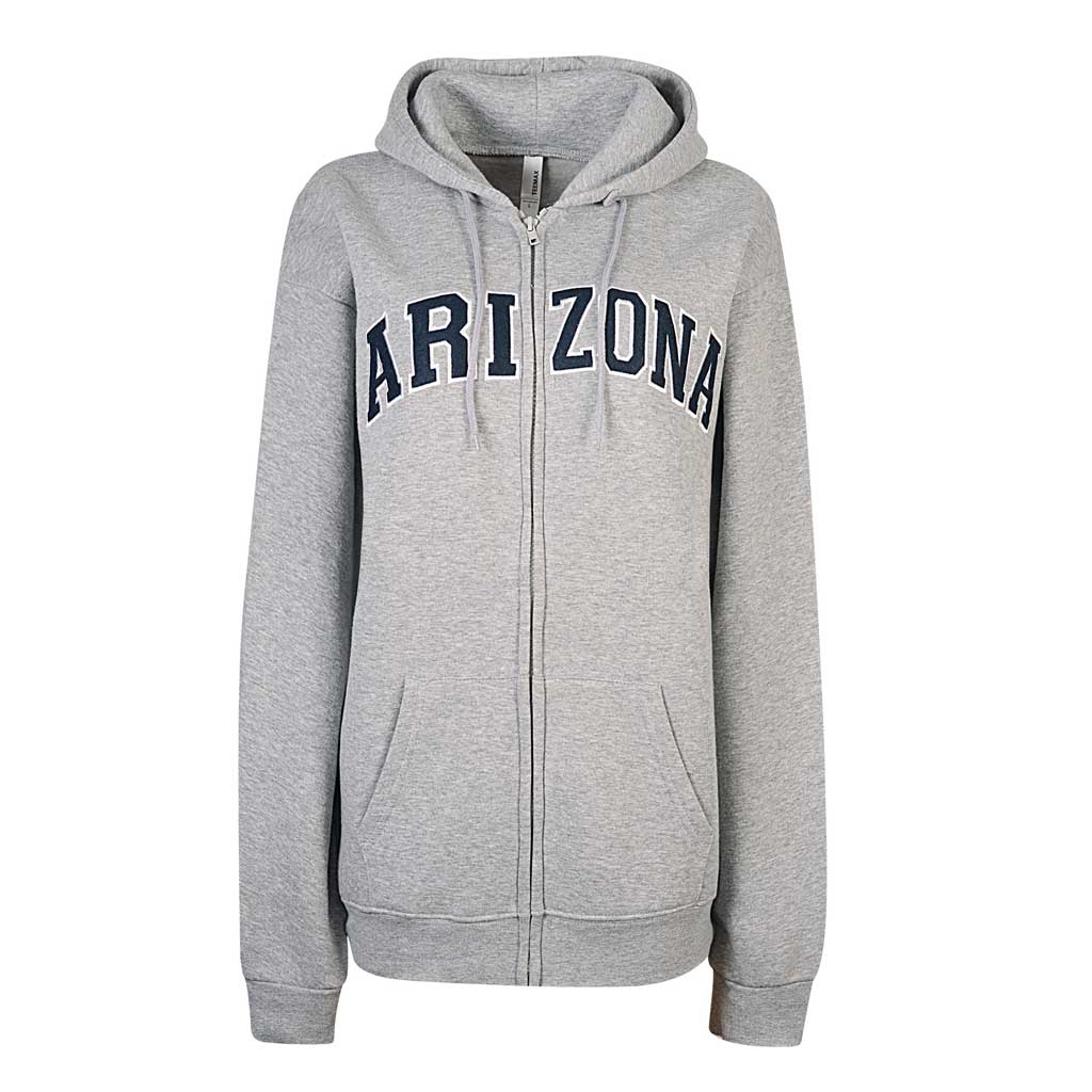 Womens Arizona Zip Up Hoodie (HEATHER GRAY)