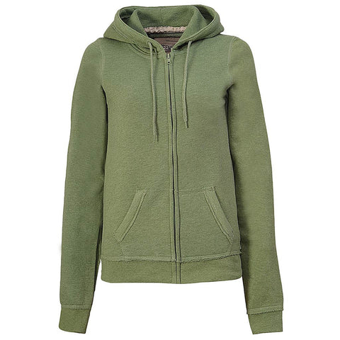 Heathered Green Full Zip Hoodie: Teemax Womens