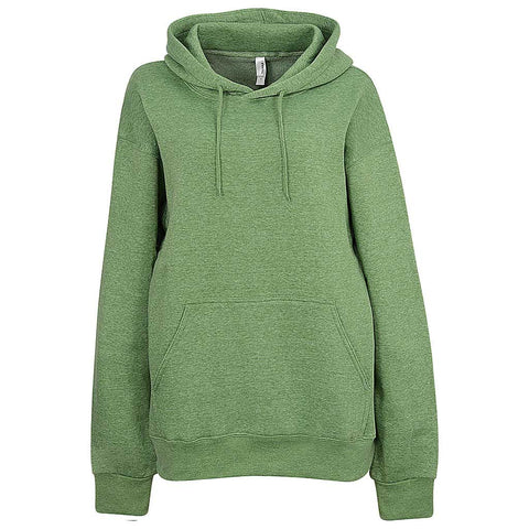 Womens Heather Green. Light. Pullover Hoodie