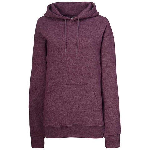 Womens Pullover Hoodie. Heather Plum Purple