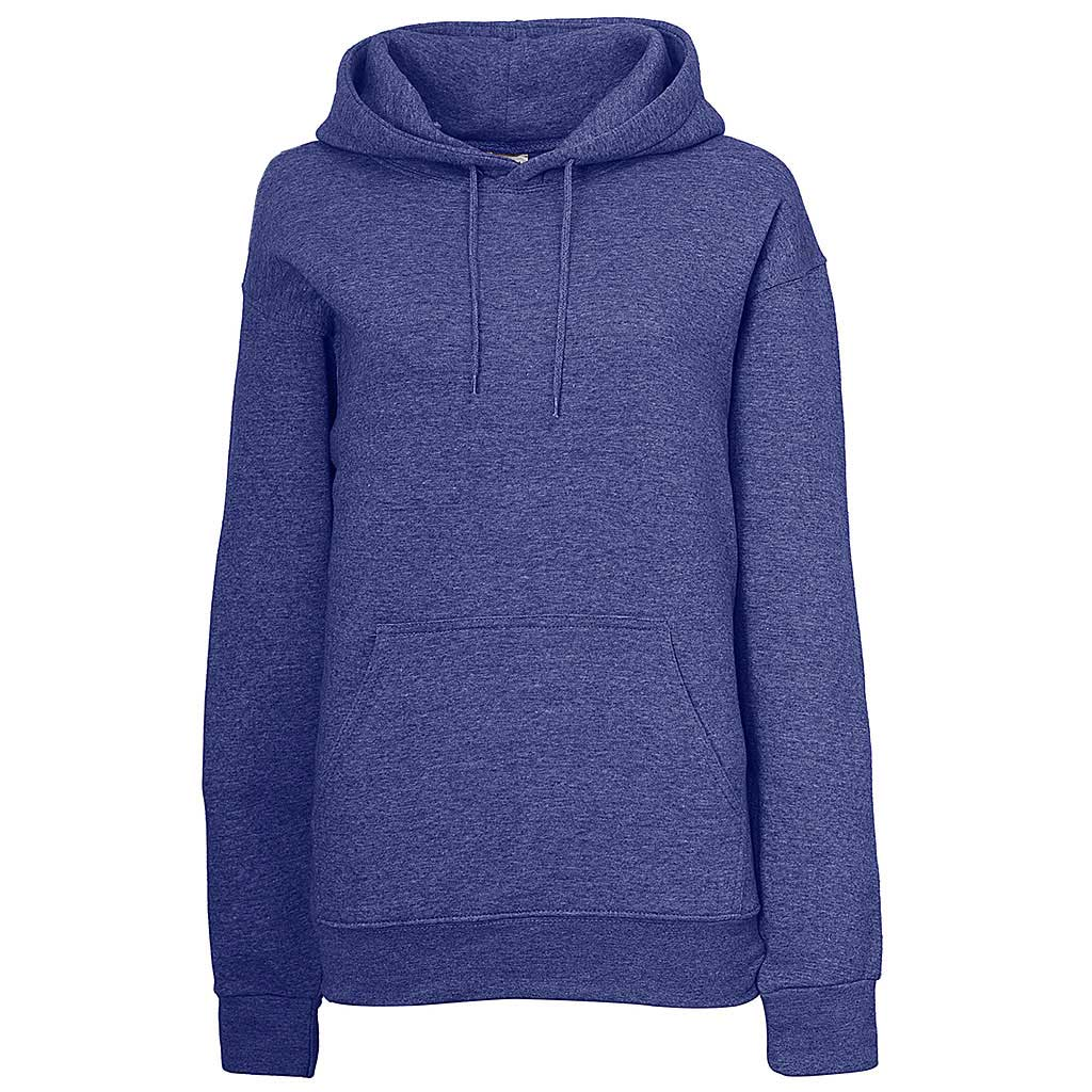 Womens Pullover Hoodie. Heather Violet Blue